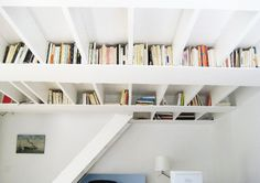 rafters into bookcases
