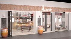 Fachada de restaurante #arandio , infografia creada para un proyecto integral de reforma y aplicación de marca #Cruzcampo