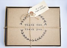 thank you cards. $12.00