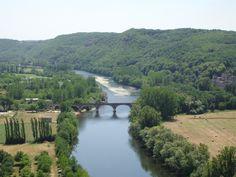 Zicht op rivier de Dordogne bij Beynac