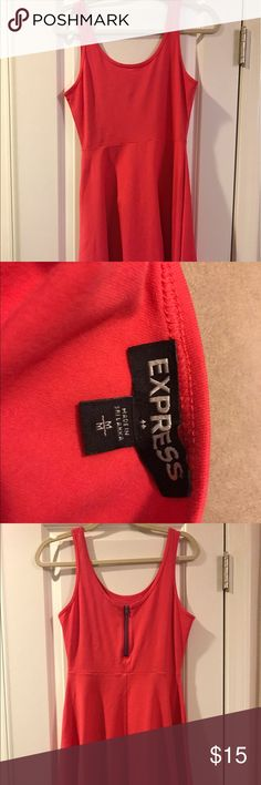 Brand New W/O Tags Express fit and flare Dress Brand New w/o Tags never worn Express fit and Flare sundress. This is perfect for summer!  Cute zipper in the back. Size Medium! Express Dresses