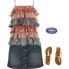 Perfect Summer evening, created by renee-besaw-kingston on Polyvore