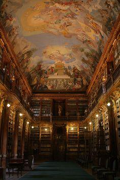 Strahov Library, Prague is one of the feature of our Prague Castle Complex. Baroque interiors and Gardens Tour. http://www.prestigepraguetours.com #prague #travel