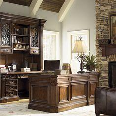 "Lexington Laredo 72"" Pedestal Desk With Leather Top 8051-1-LR"
