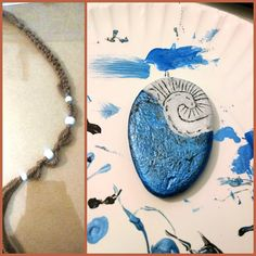Few more coats of the white paint, and making the other half of the necklace and…