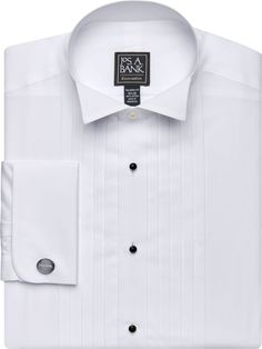 87f2eacd352 Executive Collection Tailored Fit Wing Collar French Cuff Formal Dress Shirt  Wing Collar, French Cuff