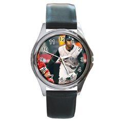 Carl Crawford Round Metal Watch
