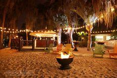 Florida wedding, beach wedding, Paradise Cove, market lights, tiki bar www.heatherricephotography.com Venue: Paradise Cove, Orlando, FL