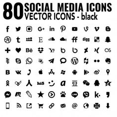 Simple Social Media Icons Vector Flat Complete Collection Most Popular Email Signatures, Web Design, Graphic Design, Social Media Icons, Facebook Sign Up, Printing, Popular, Flat, Logos