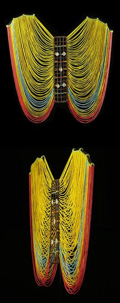 Africa | Female Beaded Corset from the Dinka people. | ca. 1960s/70s