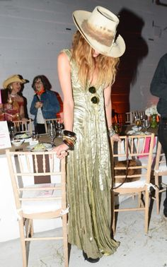 velvet gown and cowboy hat - oh my