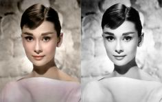 Audrey Hepburn colorized by zuzahin