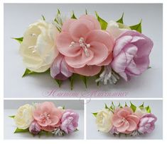 13 craft inspirations for you to do too ✂️ – Embroidery Desing Ideas Fabric Flower Brooch, Fabric Flower Tutorial, Fabric Roses, Ribbon Art, Ribbon Crafts, Flower Crafts, Paper Flowers Diy, Handmade Flowers, Band Kunst