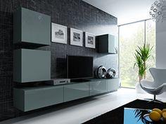Domadeco Vilado 22 Wall Mounted Tv Cabinet Modern Unique Furniture For  Living Room Color (Grey