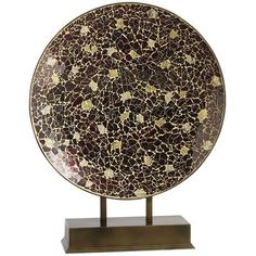 Burgundy & Gold Mosaic Platter. I have this in my entry way and it is so beautiful.
