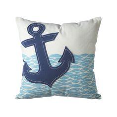 Drop Anchor Throw Pillow