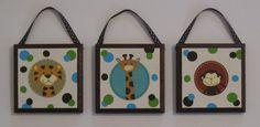 Jungle Tales Animals Wall Plaques Sailboat Nursery Decor Nojo Hangings. $18.99, via Etsy....LOVE THIS!