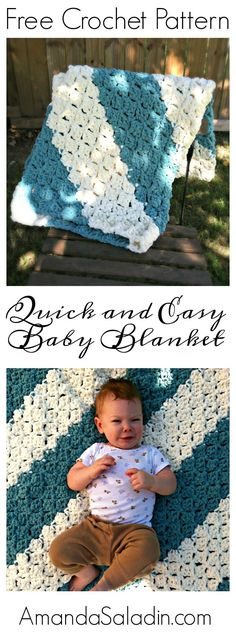 Free Crochet Pattern - this blanket works up so fast!