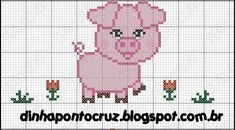 Brilliant Cross Stitch Embroidery Tips Ideas. Mesmerizing Cross Stitch Embroidery Tips Ideas. Baby Cross Stitch Patterns, Cross Stitch Baby, Cross Stitch Animals, Cross Stitch Charts, Cross Stitching, Cross Stitch Embroidery, Pig Pics, Baby Pigs, Perler Patterns