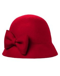 Bow Cloche Hat...worn with short or bobbed hair.