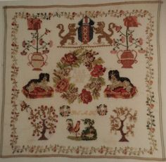 A 19th Century DUTCH Sampler Initialled BEAH & Dated 1856
