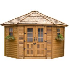 You'll love the Santa Rosa 8 Ft. W x 12 Ft. D Wood Storage Shed at Wayfair - Great Deals on all Outdoor  products with Free Shipping on most stuff, even the big stuff.