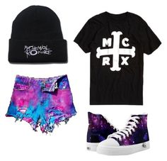 """MCRX"" by strangemusiclover ❤ liked on Polyvore featuring WithChic"