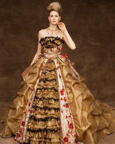 Gold gown from Kekkon Junbi Not your average wedding dress