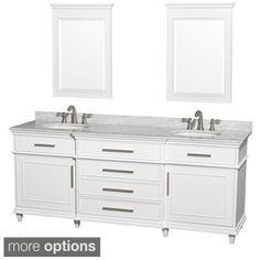 Shop for Wyndham Collection Berkeley White 80-inch Double Bathroom Vanity. Get…