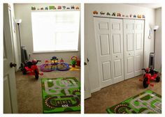 Baby Infant toddler Boy Room Decor - transportation car airplane theme wall decals Ikea kids