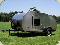 Cal-Deluxe teardrop trailer, I think this is light enough to be towed by a regular vehicle