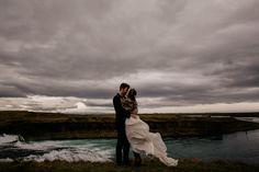 iceland wedding photographer-bridal portrait waterfalls