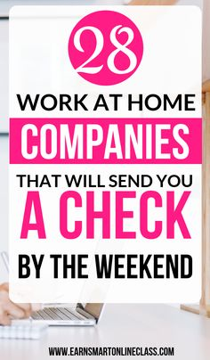Looking for work at home jobs that pay weekly. Here's an awesome list of online jobs that pay every single week! by FrugalFanatic Read Work From Home Careers, Work From Home Companies, Online Jobs From Home, Legitimate Work From Home, Work From Home Opportunities, Work From Home Tips, Online Blog, Online College, Online Work