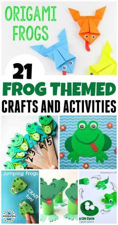 Frog Activities And Crafts For Preschoolers - The Inspiration Edit #Frogs #Preschool #Preschoolers #Kindergarten #EYFS #KBNmoms #homeschooling #homeschool #counting #teachkids kidsactivities #kidscrafts