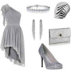 Silver sparkle. Not crazy about the shoes
