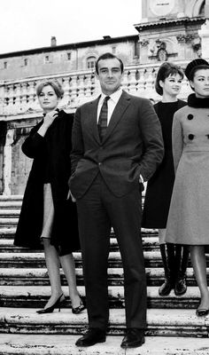 Eternal style in the Eternal City; Sean Connery, Rome, 1963.
