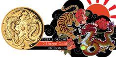 Australien 200 Dollar Gold Drache & Tiger PP