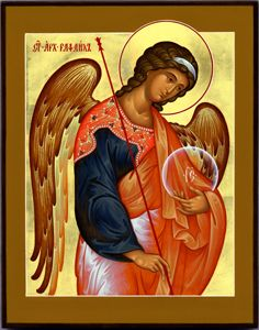 "Archangel Raphael, patron healing and creativity. Rafael = ""It is God who has healed."""