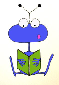 Experimenting with making clipart.  I kind of love this alien. :)