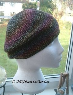 A very pretty Autumnal Toned slouchy, or loose beret crocheted hat, with berry or rainbow tones. The Autumnal toned yarn for this crocheted hat is a Denys Brunton designer yarn and is wonderfully soft and is perfect shade for those who love autumnal to. Crochet Beret, Crochet Scarves, Conkers, Slouchy Hat, Beautiful Gifts, Autumnal, Rainbow Colors, Classic Style, Knitting