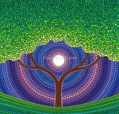 Happy Tree of Life by Elspeth McLean
