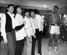 the Beatles with Mohamid Ali