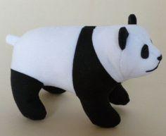Панда своими руками. Мягкая игрушка схемы выкройки.
