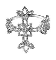 SPECIAL OFFER  Sterling Silver Ring Sale - 2 for $35! Mix or match select styles.  Sterling Silver Diamond Accent Cross Ring