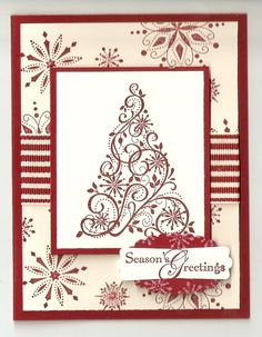 Stampin Up Snow Swirled Card Kit Christmas | eBay
