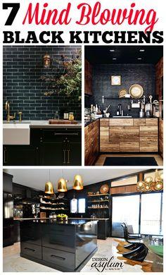 7 Mind Blowing Black Kitchens