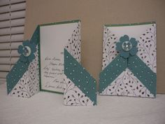 "This double gate fold card is so easy to make, truly, yet has such a wow-factor! (Please forgive seeing personal message; I'd forgotten to snap a pic. before filling it in; phooey!) There is a tutorial over here but my dimensions are a tad different (taken from a Shirley Merker). To get two cards from a sheet of DSP, cut your paper to: 12"" x 11"". Ah! Here is her video over on YouTube (have fun!): https://www.youtube.com/watch?v=mIFfVzQnJI8 With the 12"" side running across the top, s..."
