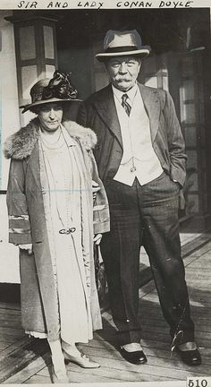 Sir Arthur and Lady Jean Conan Doyle, c.1920. by National Media Museum, via Flickr