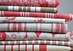 vintage french fabrics.
