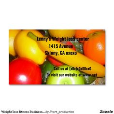 Weight loss fitness Business Card